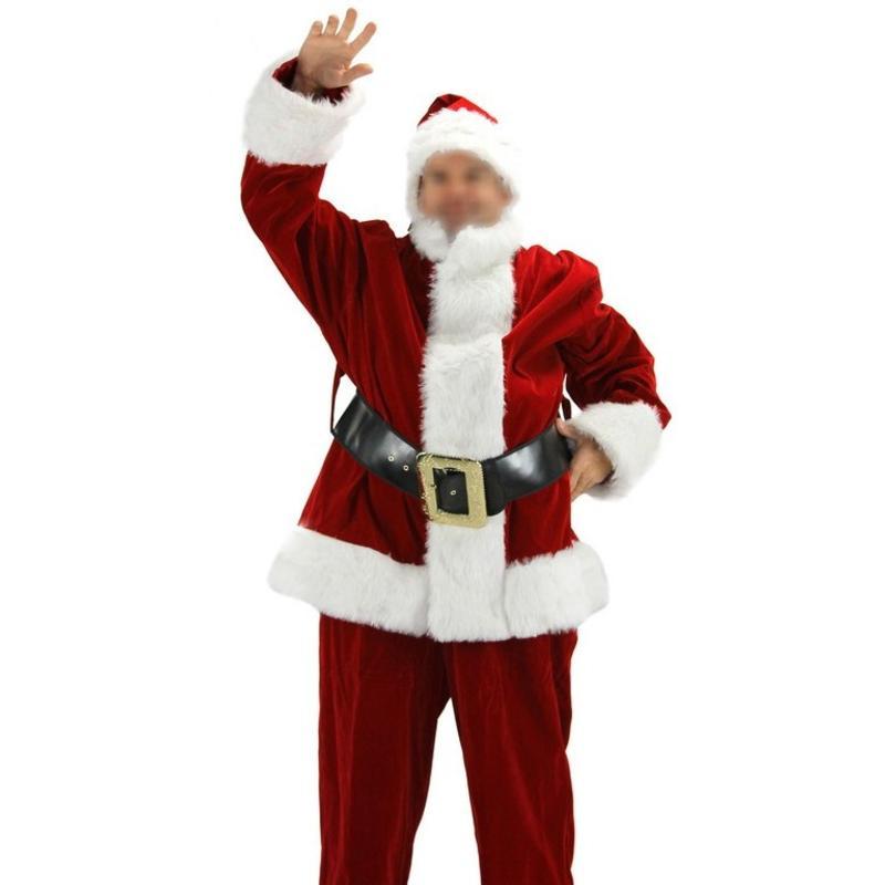 Santa Claus Suit Pants Cap Vest